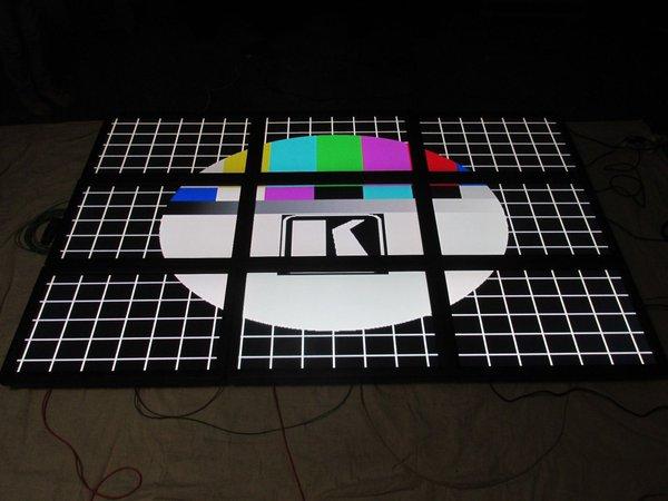"3 x 3 Barco Solaris video wall 9 x 40"" LCD SDI monitors"