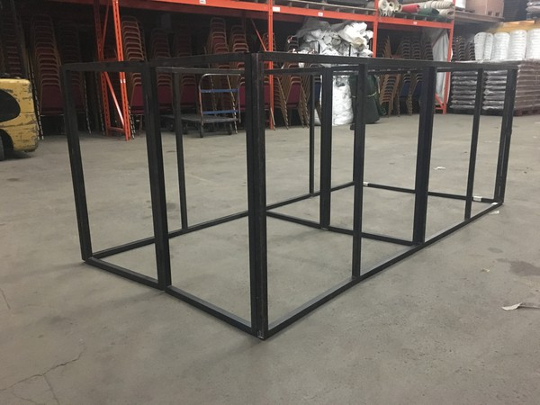 Metal stage frame