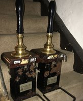 3x Used Ale Pumps with Mahogany Base