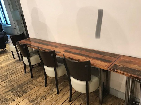 Extra long wooden table