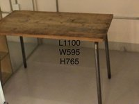 Industrial style long wooden table