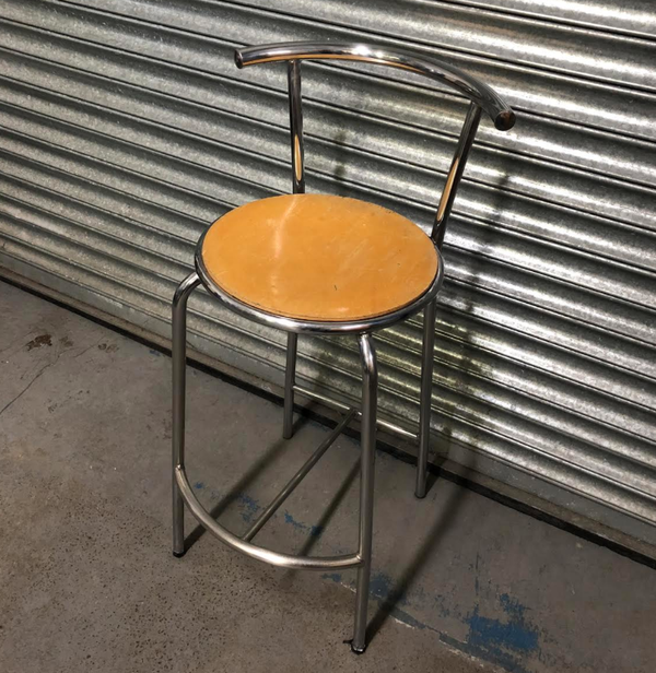 Chrome frame bar stools
