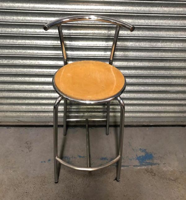 Chrome wooden stools