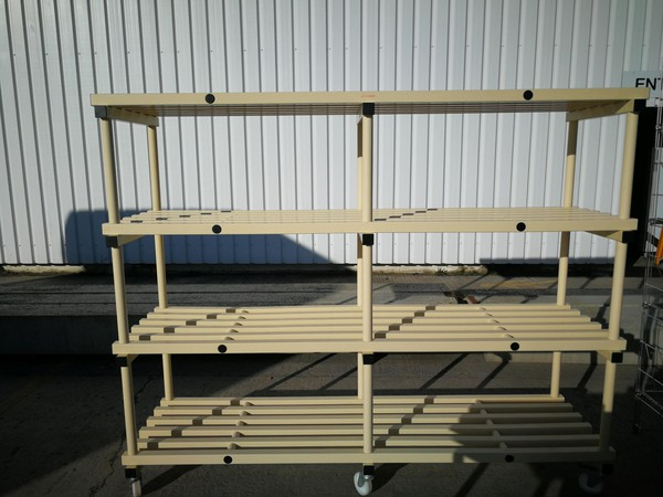 Heavy duty 4 tier fridge shelf