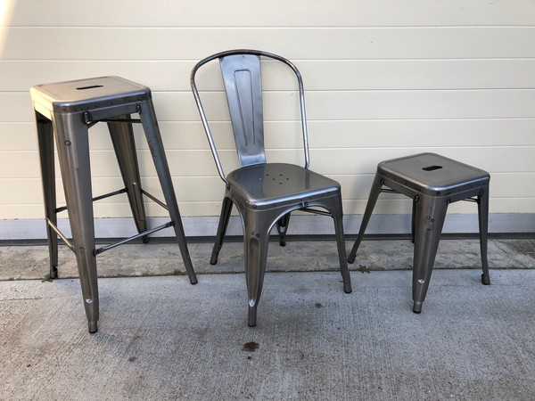 Rust welded chairs