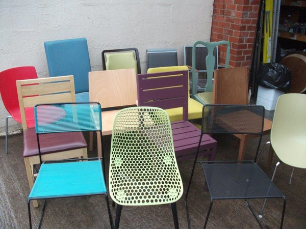 Assorted sample chairs