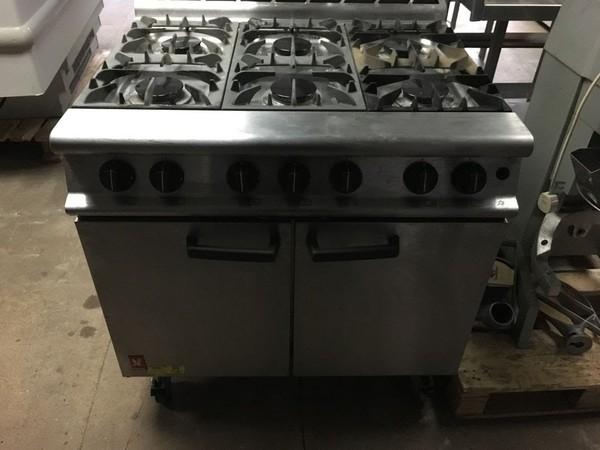 6 Burner gas oven