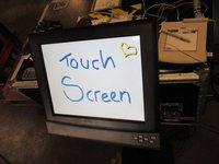 Touch screen with stand
