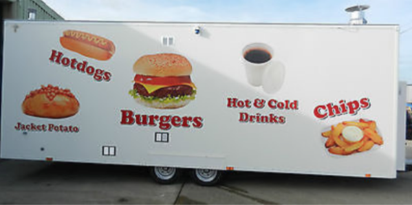 Used catering trailer for sale