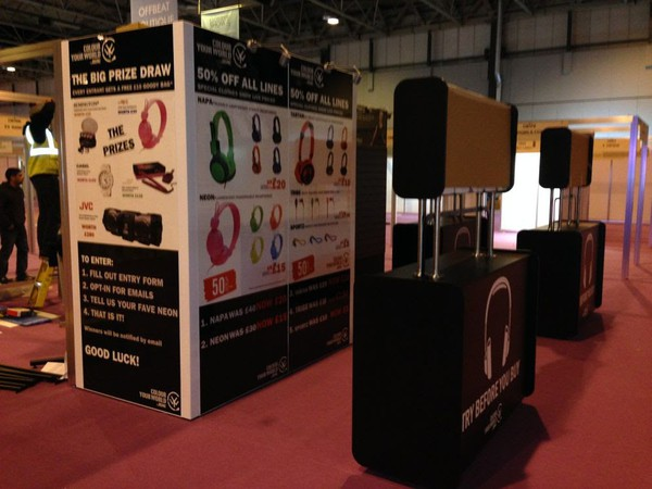 Secondhand trade show stand