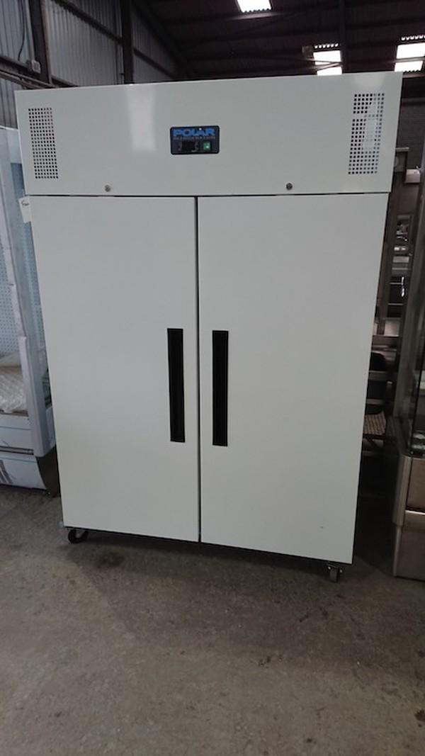 Ex Demo Polar CC663 Double Upright White Fridge(6242)