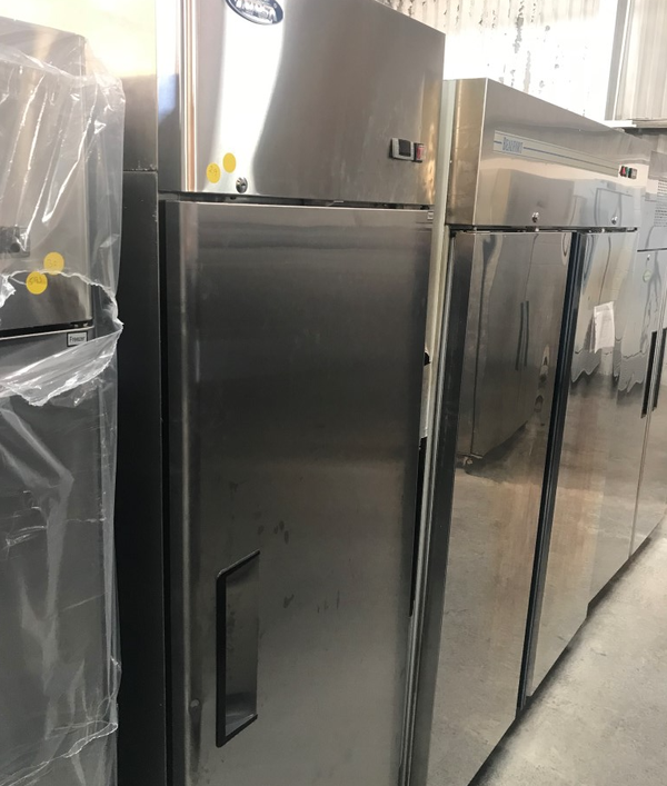 Stainless steel single door fridge