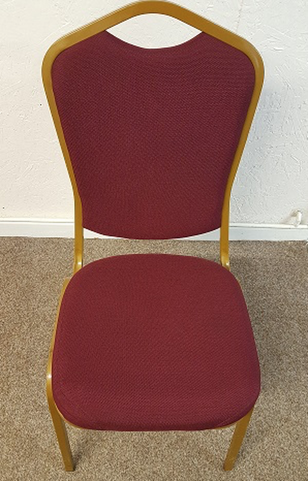 Gold and burgundy chairs for sale