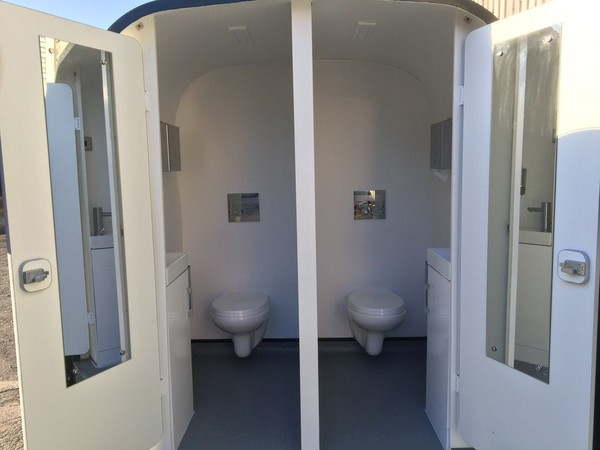 Toilet trailer conversion