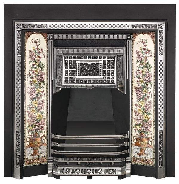 Vintage home fireplace