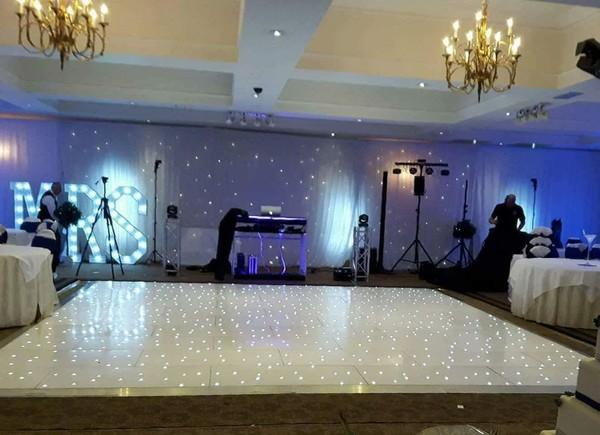 White LED dance floor - starlight