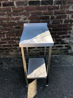 Short stainless infill table