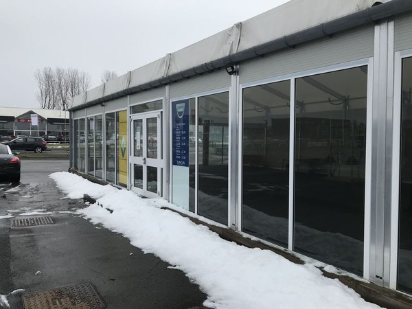 Marquee car showroom for sale
