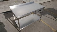 Used Stainless Steel Table With Drawer