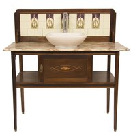 Antique Washstand with Basin and Tap
