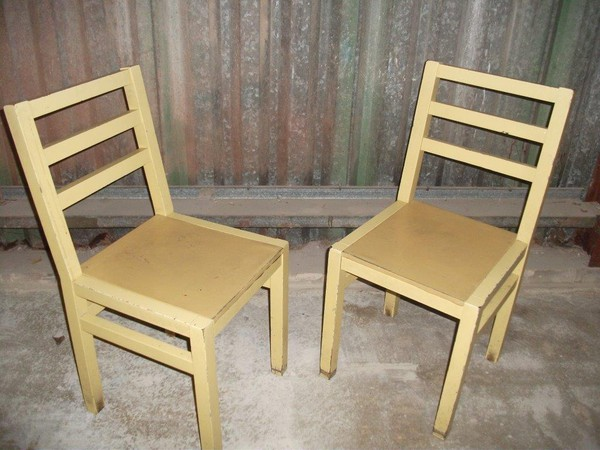 Mustard chic chairs for sale