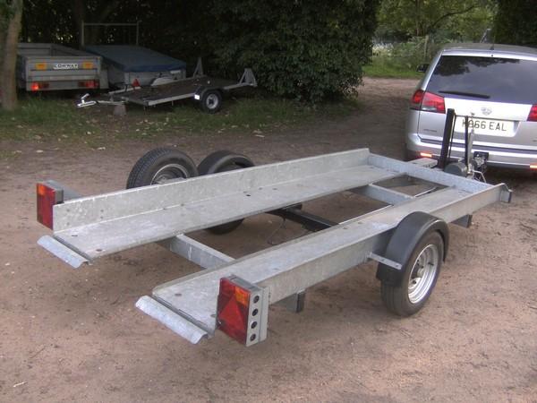 Used tiltbed trailer
