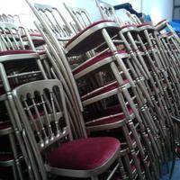 Gilt cheltenham banqueting chairs