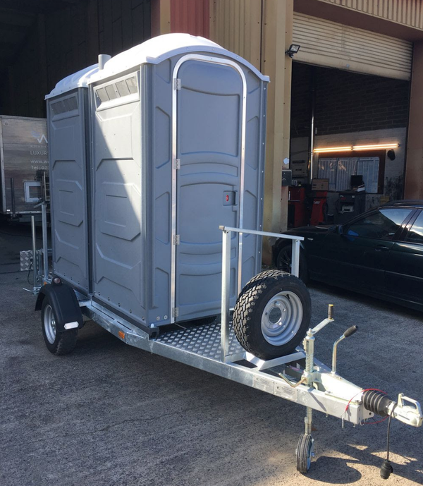 Brand new 1 + 1 toilet trailer