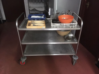 Stainless steel catering trolley for sale