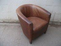 6x Vintage Leather Tub Chairs (CODE TUB 277)