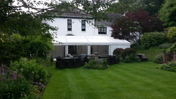 6m Clearspan framed marquee
