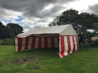 Red and White Show Unit 20 ft x 20 ft