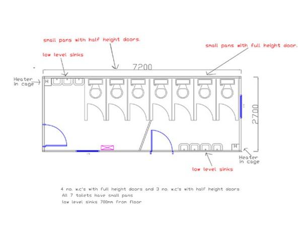Plan of Jackleg Plastisol Infant Toilet