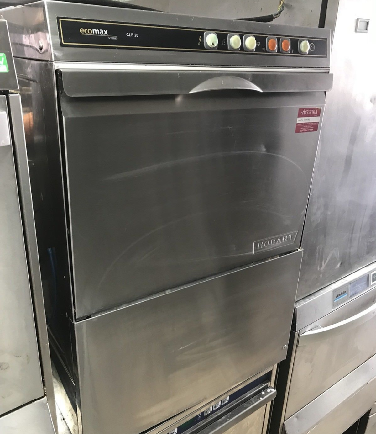 Hobart Ecomax CLF26 Commercial Dishwasher/Glass Washer