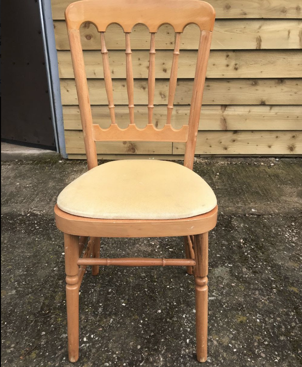 Secondhand banqueting chairs