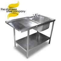 1.2m Stainless Steel Single Bowl Sink