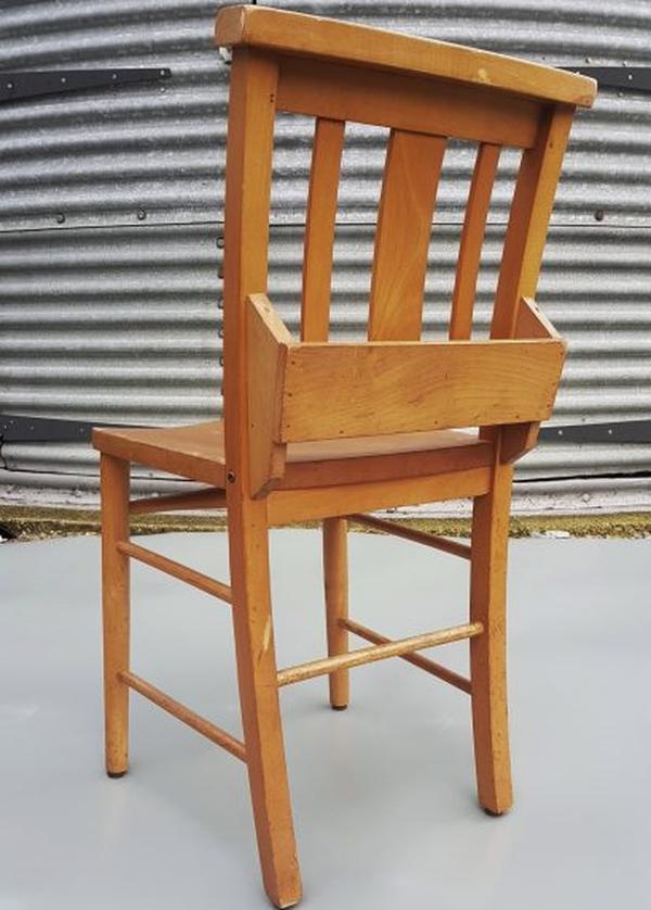 Wooden church chairs