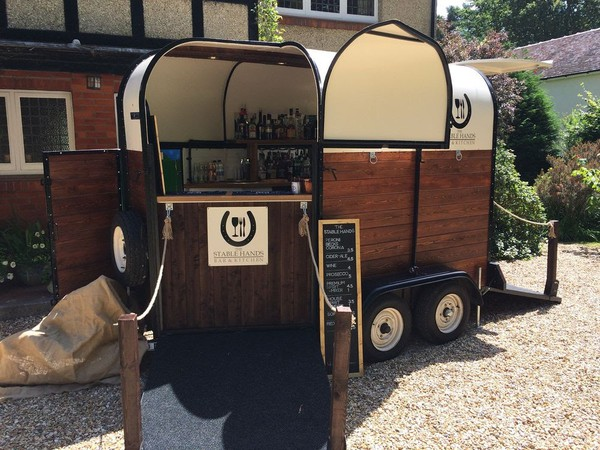 Mobile wedding bar trailer
