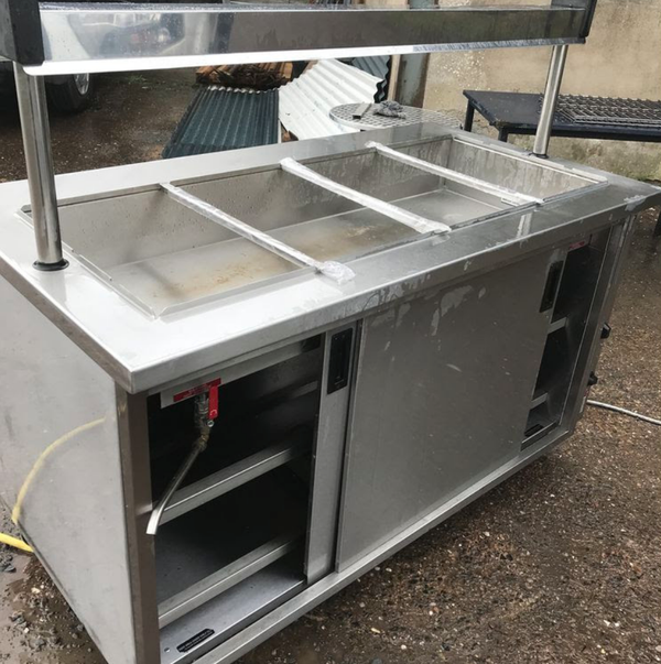 Wet Well bain marie trolley