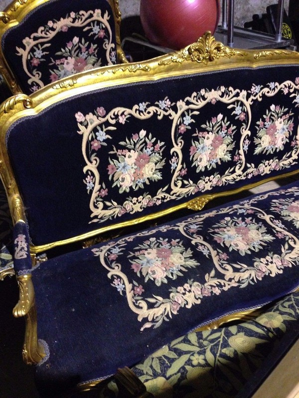 French Styled Sofa and 4 Armchairs