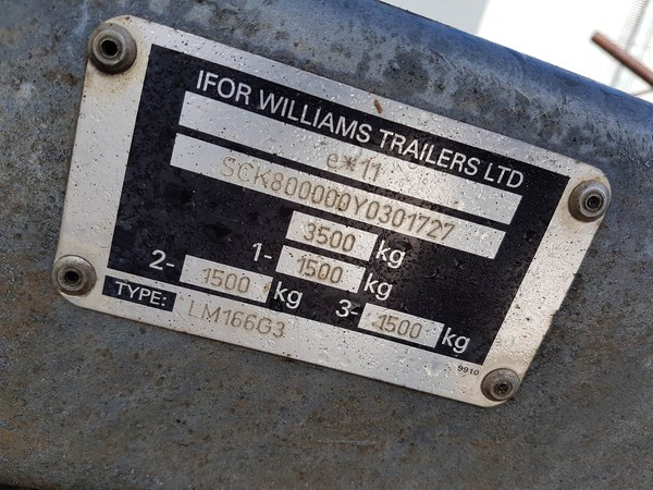 Buy used Ifor williams trailer