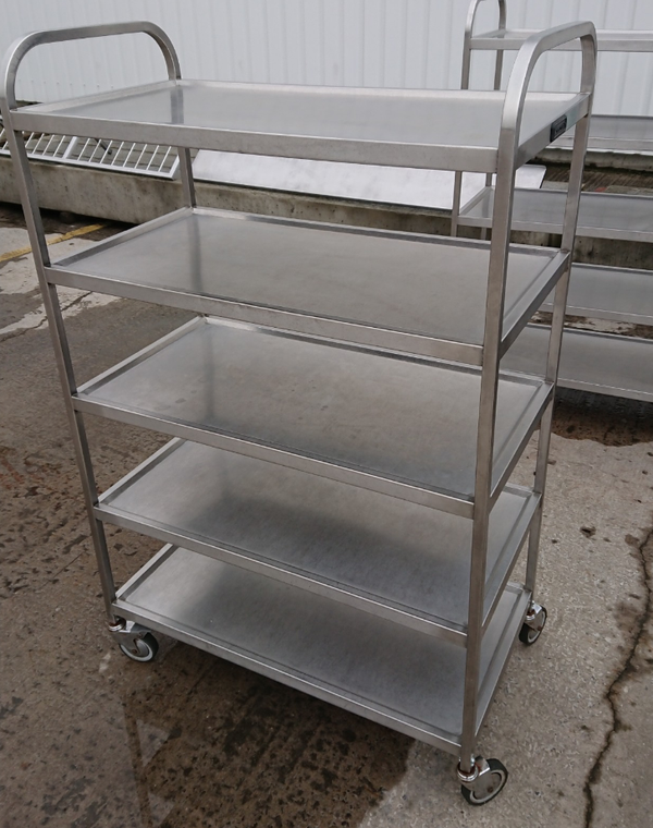 Stainless steel 5 tier trolley