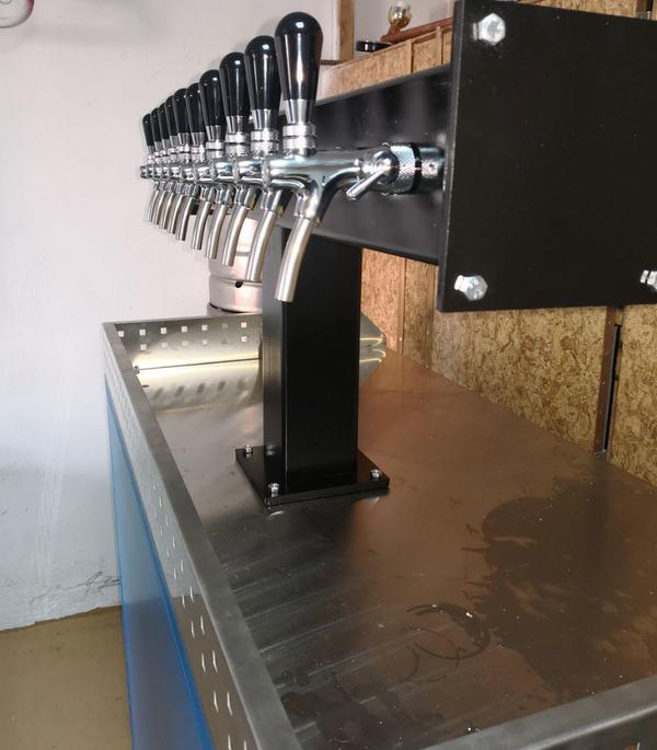 Bar draft beer taps