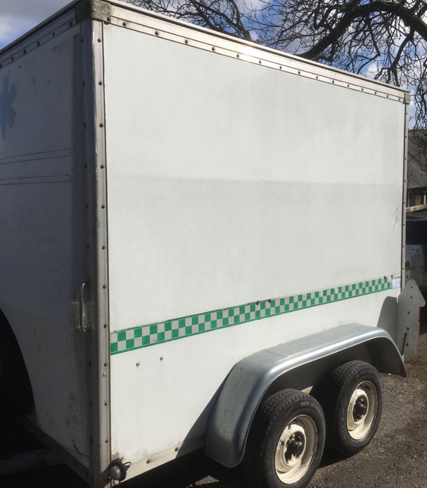 Secondhand box trailer