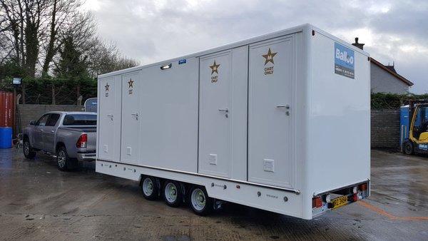 4 bay toilet trailer for sale