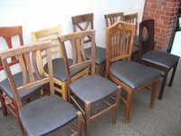 Mixed restaurant or pub dining chairs
