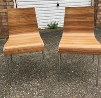 Zebrano chairs