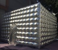 Silver inflatable cube for sale