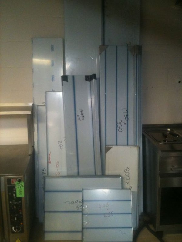 Various Brand New Stainless Steel Wall Mounted Shelves - Peterborough Cambridgeshire