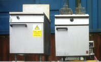 Single well Double Basket Falcon Gas Fryers, Choice Of Three for sale